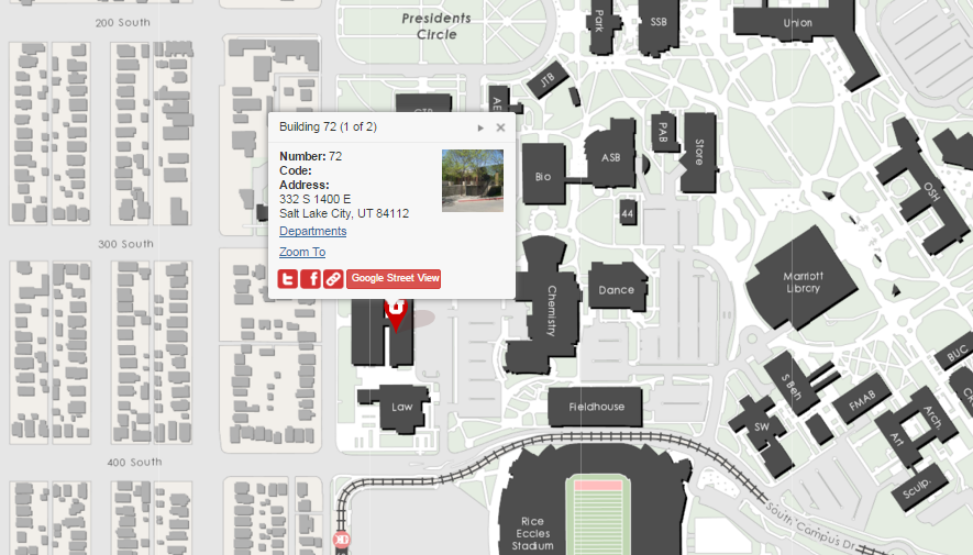 University Of Utah Map We're Moving!   College of Social and Behavioral Science   The